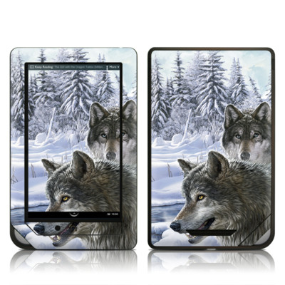Barnes and Noble NOOK Tablet Skin - Snow Wolves