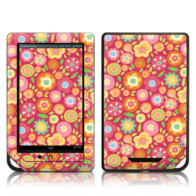 Barnes and Noble NOOK Tablet Skin - Flowers Squished