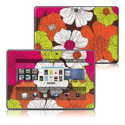 BlackBerry PlayBook Skin - Brown Flowers