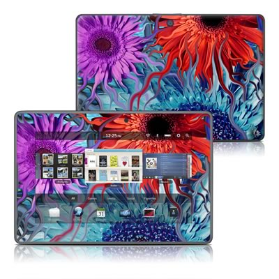 BlackBerry PlayBook Skin - Deep Water Daisy Dance