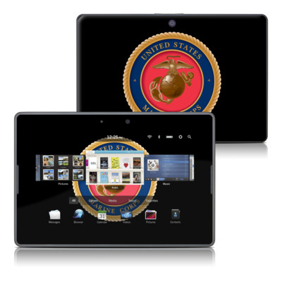 BlackBerry PlayBook Skin - USMC Black