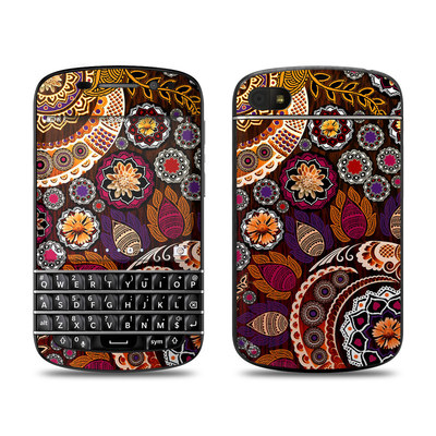 BlackBerry Q10 Skin - Autumn Mehndi