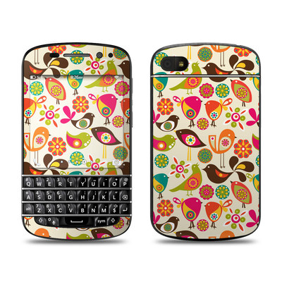 BlackBerry Q10 Skin - Bird Flowers