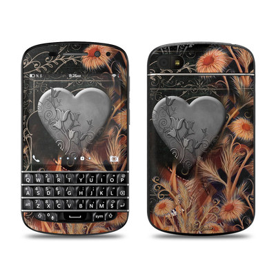 BlackBerry Q10 Skin - Black Lace Flower