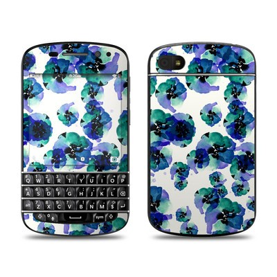 BlackBerry Q10 Skin - Blue Eye Flowers
