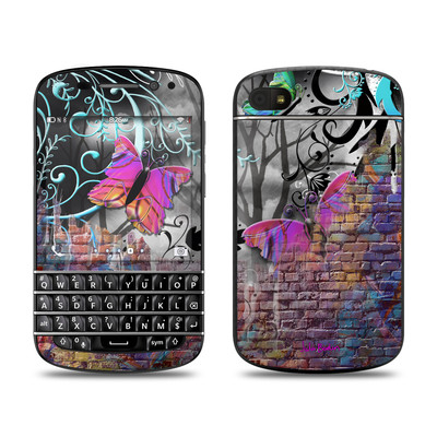 BlackBerry Q10 Skin - Butterfly Wall