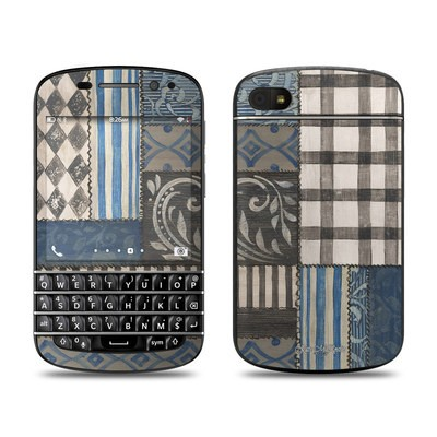 BlackBerry Q10 Skin - Country Chic Blue