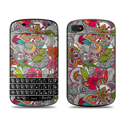 BlackBerry Q10 Skin - Doodles Color