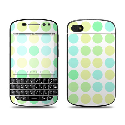 BlackBerry Q10 Skin - Big Dots Mint