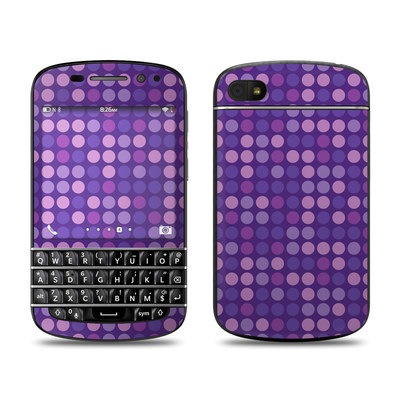 BlackBerry Q10 Skin - Dots Purple