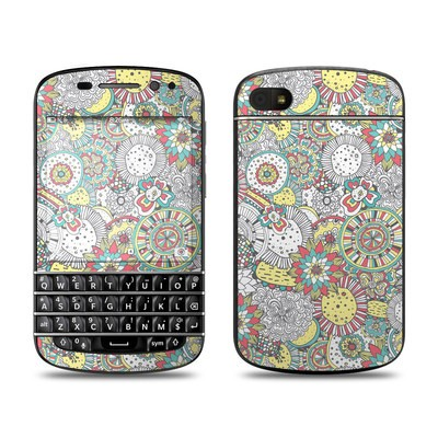 BlackBerry Q10 Skin - Faded Floral