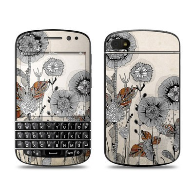 BlackBerry Q10 Skin - Four Flowers