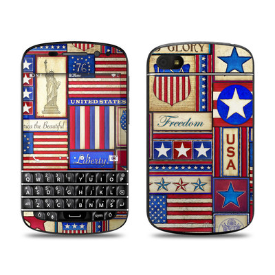 BlackBerry Q10 Skin - Flag Patchwork