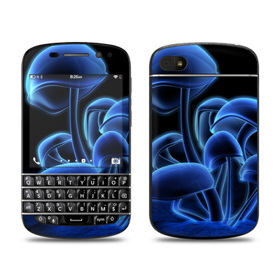 BlackBerry Q10 Skin - Fluorescence Blue