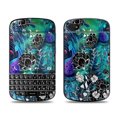 BlackBerry Q10 Skin - Peacock Garden