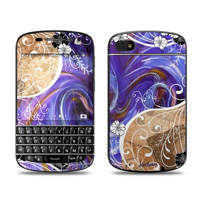 BlackBerry Q10 Skin - Purple Waves