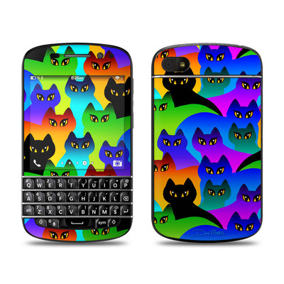 BlackBerry Q10 Skin - Rainbow Cats