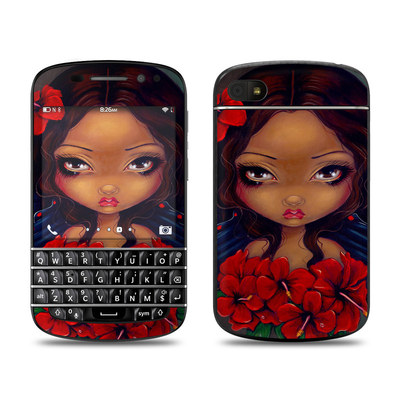 BlackBerry Q10 Skin - Red Hibiscus Fairy