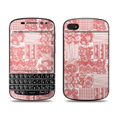 BlackBerry Q10 Skin - Red Quilt