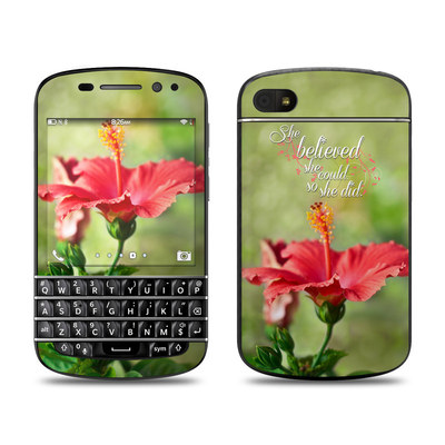 BlackBerry Q10 Skin - She Believed