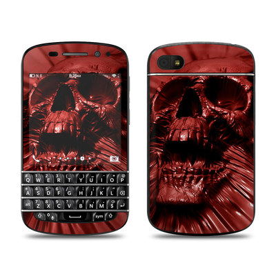 BlackBerry Q10 Skin - Skull Blood