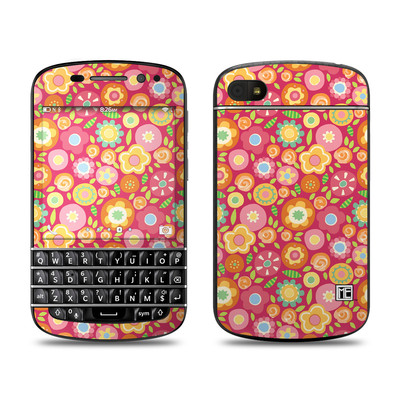 BlackBerry Q10 Skin - Flowers Squished