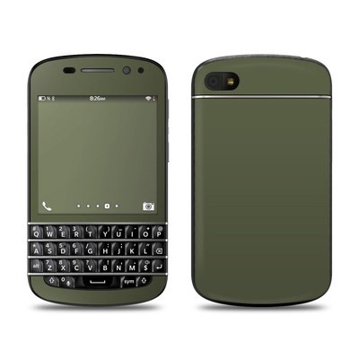BlackBerry Q10 Skin - Solid State Olive Drab