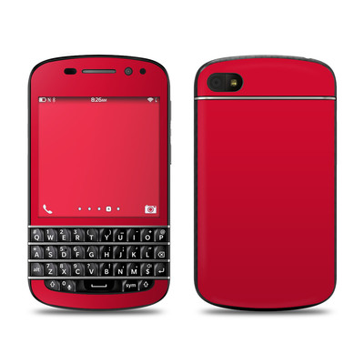 BlackBerry Q10 Skin - Solid State Red