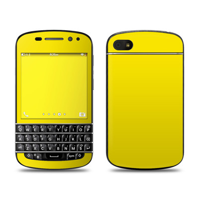 BlackBerry Q10 Skin - Solid State Yellow