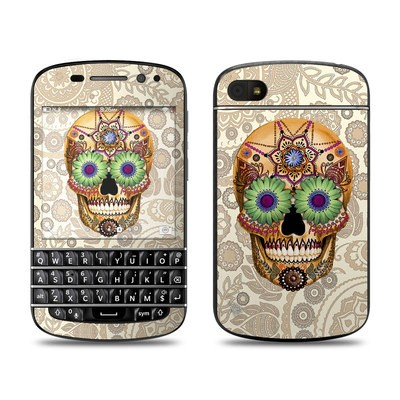 BlackBerry Q10 Skin - Sugar Skull Bone