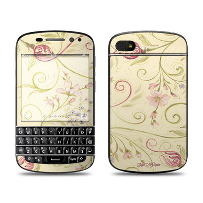 BlackBerry Q10 Skin - Tulip Scroll