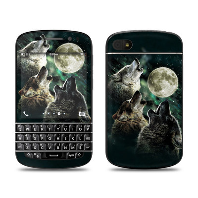 BlackBerry Q10 Skin - Three Wolf Moon
