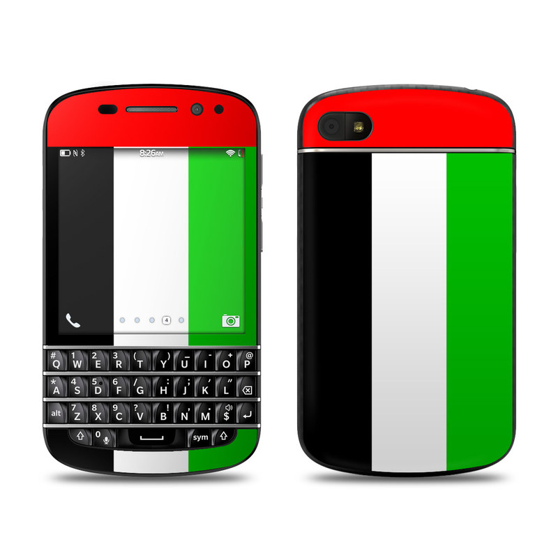 blackberry q10 skin united arab emirates flag by flags decalgirl