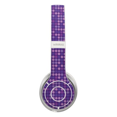 Beats Solo 2 Wireless Skin - Dots Purple
