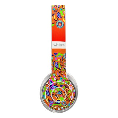 Beats Solo 2 Wireless Skin - Orange Squirt