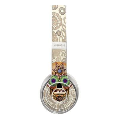 Beats Solo 3 Wireless Skin - Sugar Skull Bone