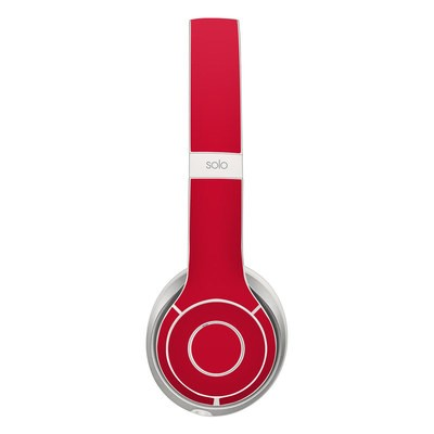 Beats Solo 2 Skin - Solid State Red