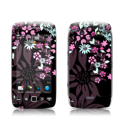 BlackBerry Torch 9850-9860 Skin - Dark Flowers