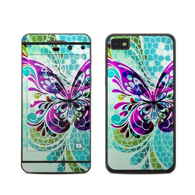 BlackBerry Z10 Skin - Butterfly Glass