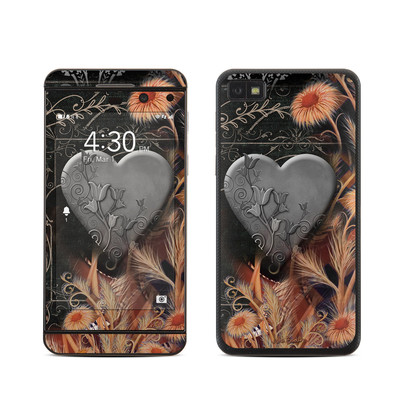 BlackBerry Z10 Skin - Black Lace Flower