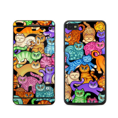 BlackBerry Z10 Skin - Colorful Kittens
