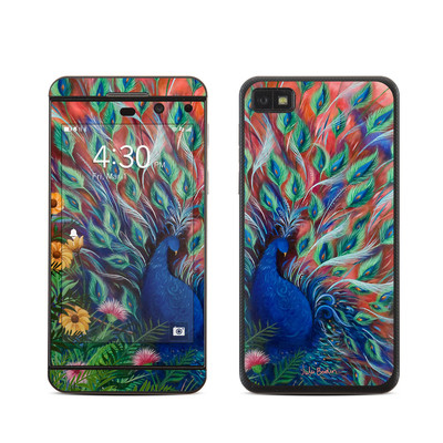 BlackBerry Z10 Skin - Coral Peacock