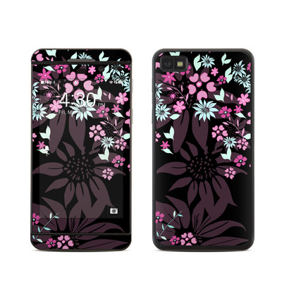 BlackBerry Z10 Skin - Dark Flowers