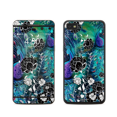 BlackBerry Z10 Skin - Peacock Garden