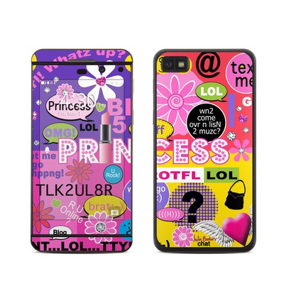 BlackBerry Z10 Skin - Princess Text Me