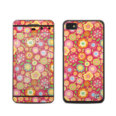 BlackBerry Z10 Skin - Flowers Squished
