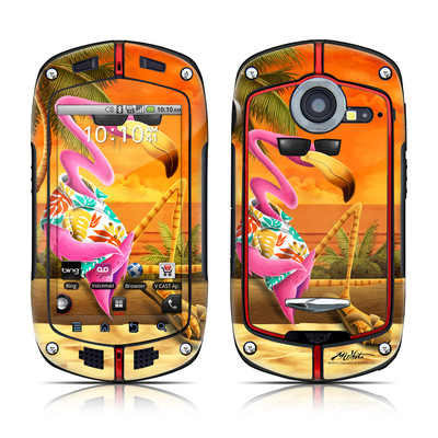 Casio G'zOne Commando Skin - Sunset Flamingo