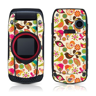 Casio G'zOne Ravine Skin - Bird Flowers