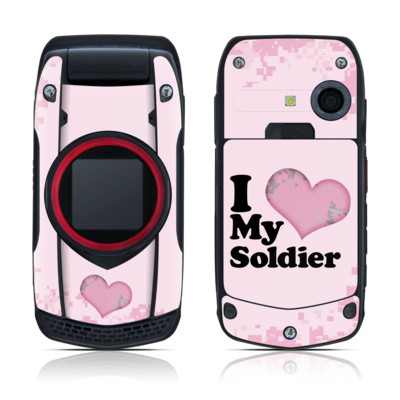 Casio G'zOne Ravine Skin - I Love My Soldier