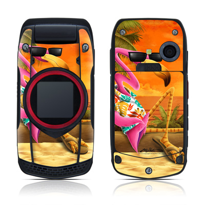 Casio G'zOne Ravine Skin - Sunset Flamingo